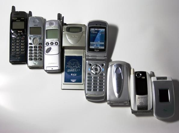 1997年から2004年の携帯電話