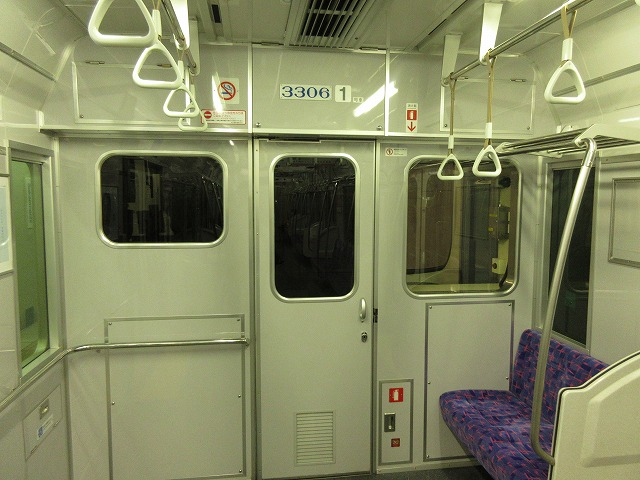 名鉄3300系の運転席直後の内装