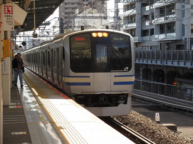 2018.11.3 武蔵小杉に進入するE217系
