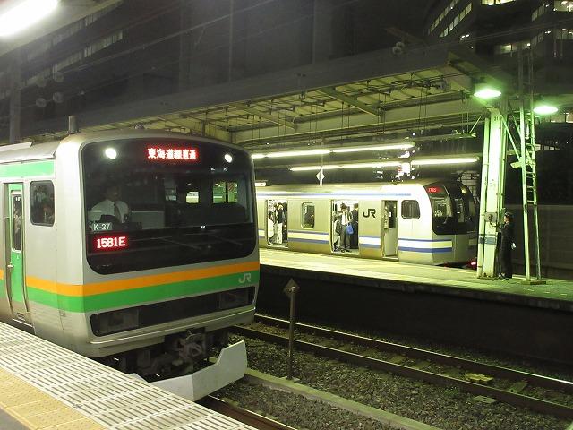 E217系(品川14番線)