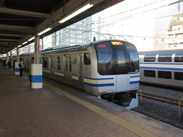 錦糸町に停車中のE217系