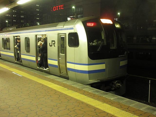 夕方ラッシュ時の総武線快速E217系