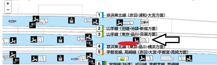 上野構内図