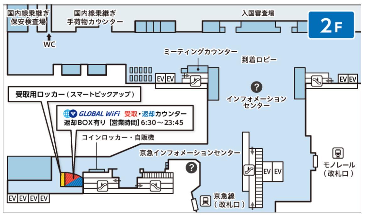 羽田空港の受取箇所