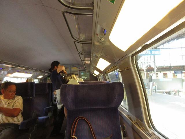 TGVの車内(座席周辺)