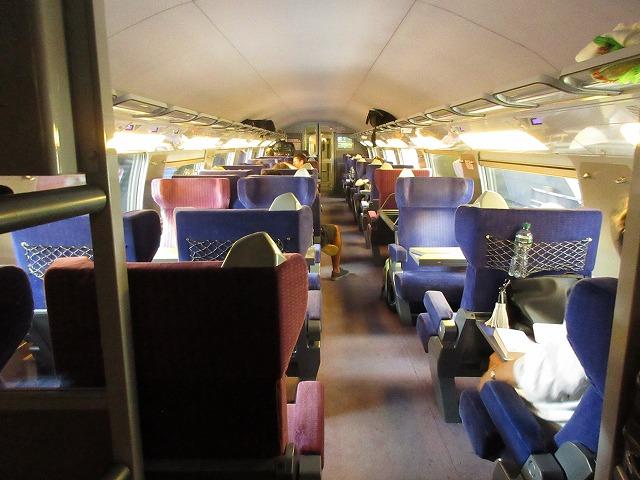 TGVの車内(全体)