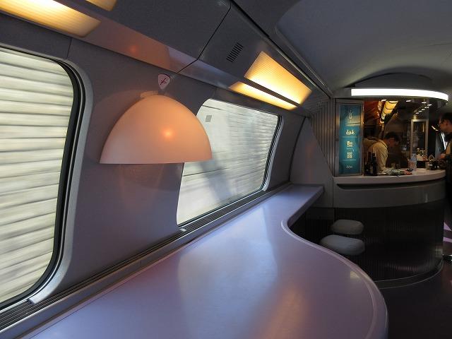 TGVの車内(飲食スペース)