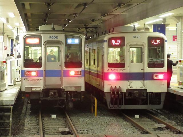 東武8000系と10030系(柏)