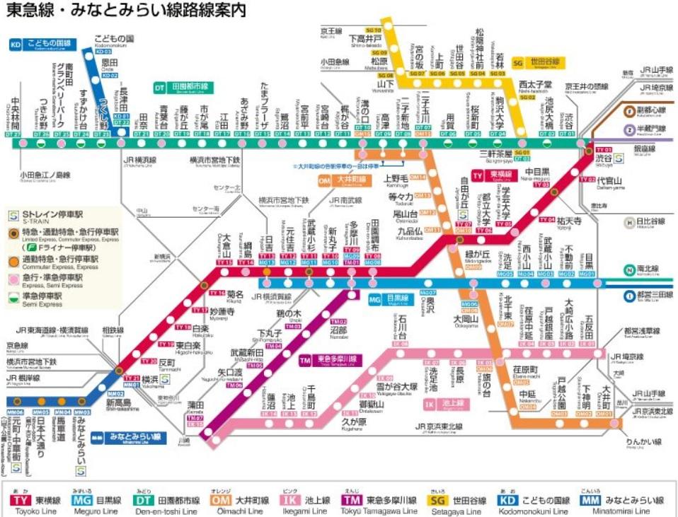 東急線路線図