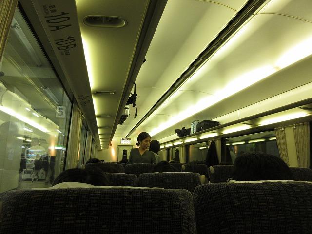 近鉄21020系アーバンライナー車内