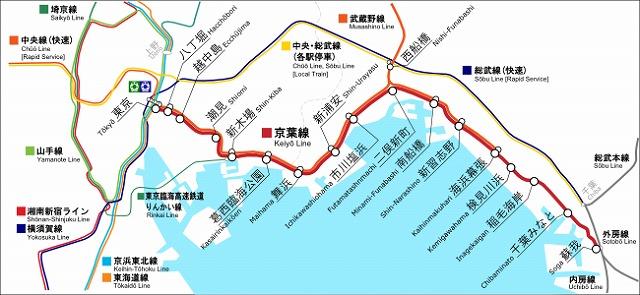 京葉線路線図
