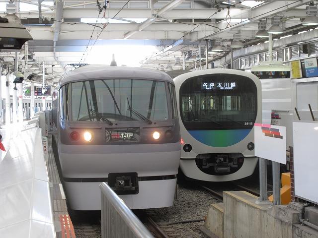 西武10000系と30000系(西武新宿)