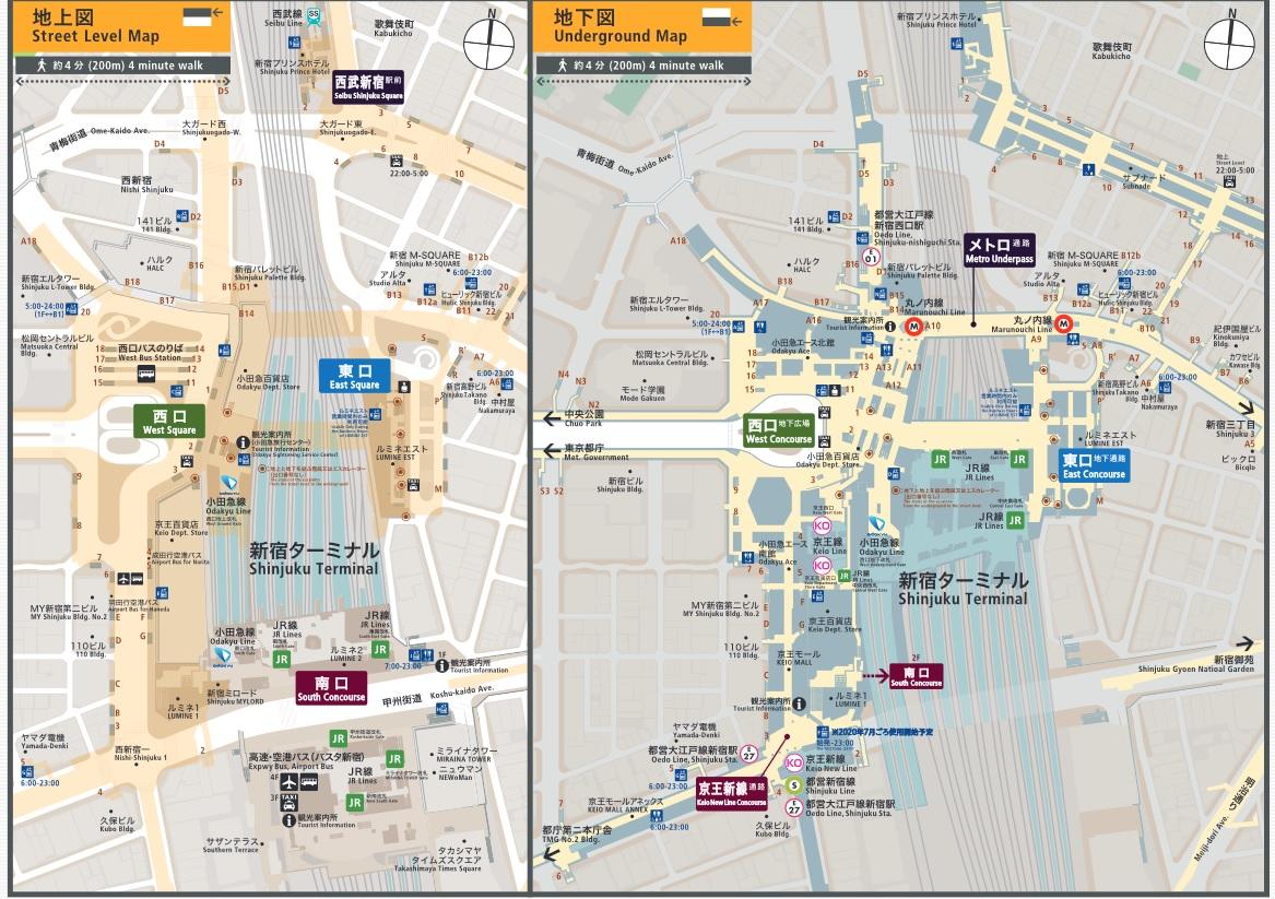 新宿駅マップ