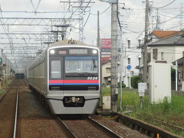 京成3000形(車内から)